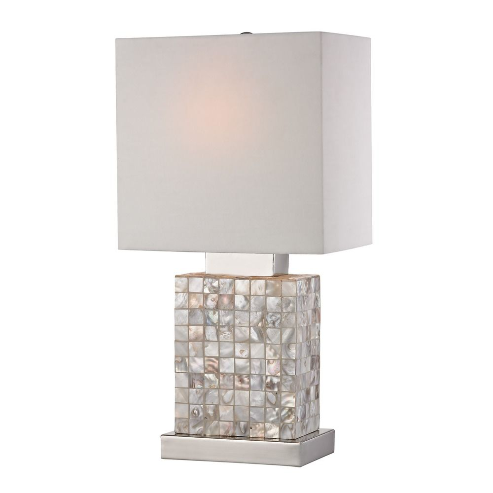 Mother Of Pearl Accent Lamp: Mini Mother Of Pearl Lamp