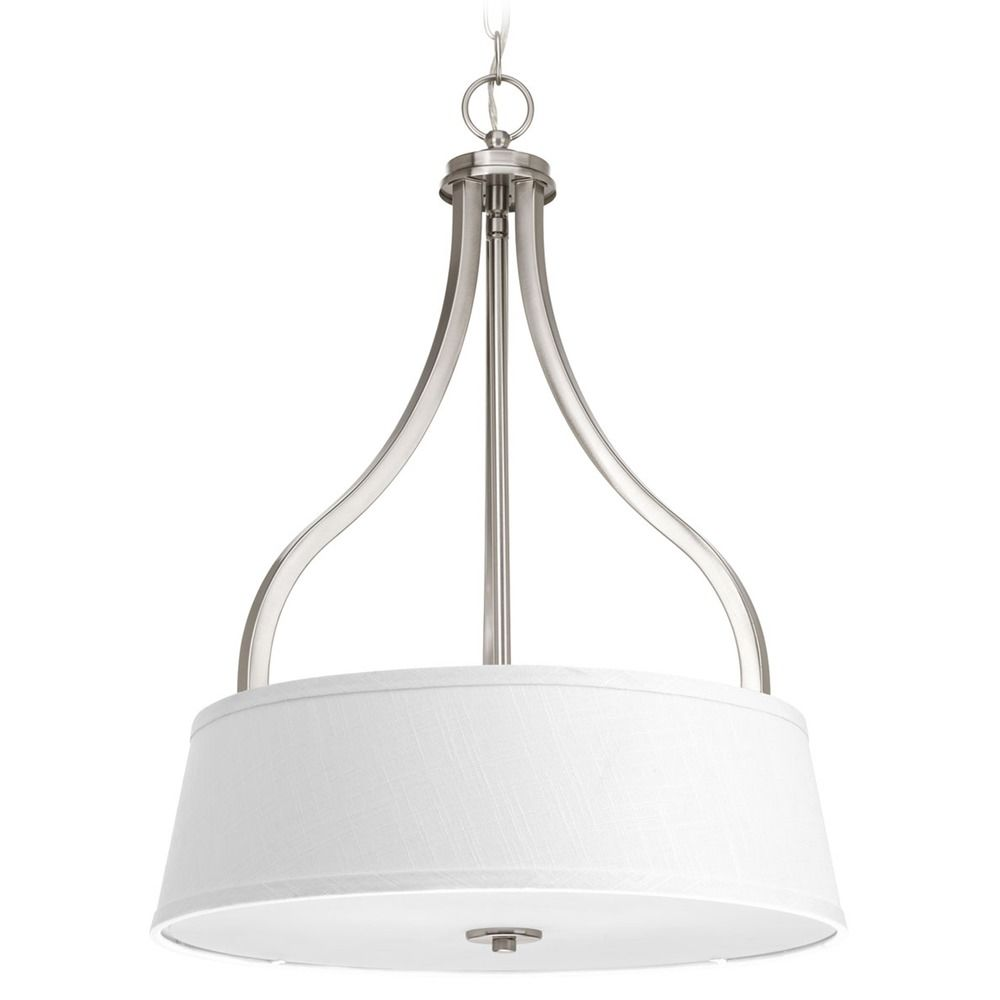 progress lighting arden brushed nickel pendant light with. Black Bedroom Furniture Sets. Home Design Ideas