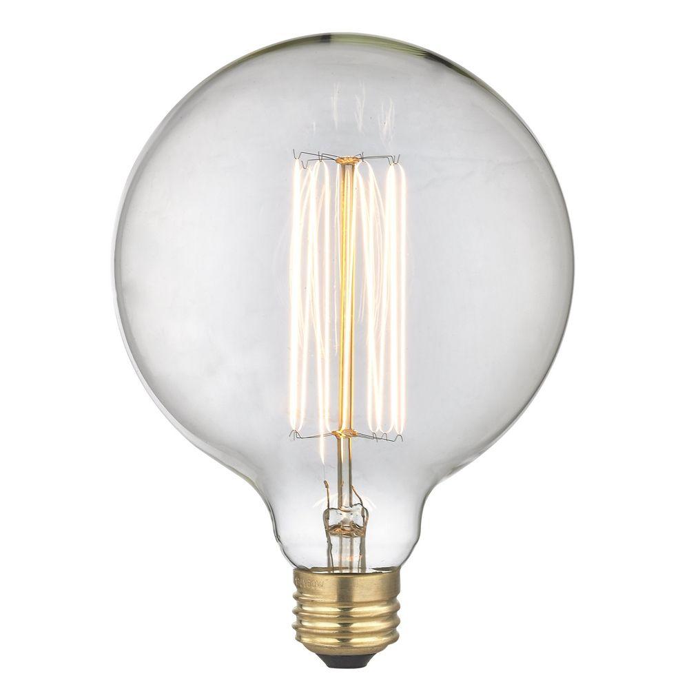 Vintage Edison G40 Globe Light Bulb 60 Watts 60g40