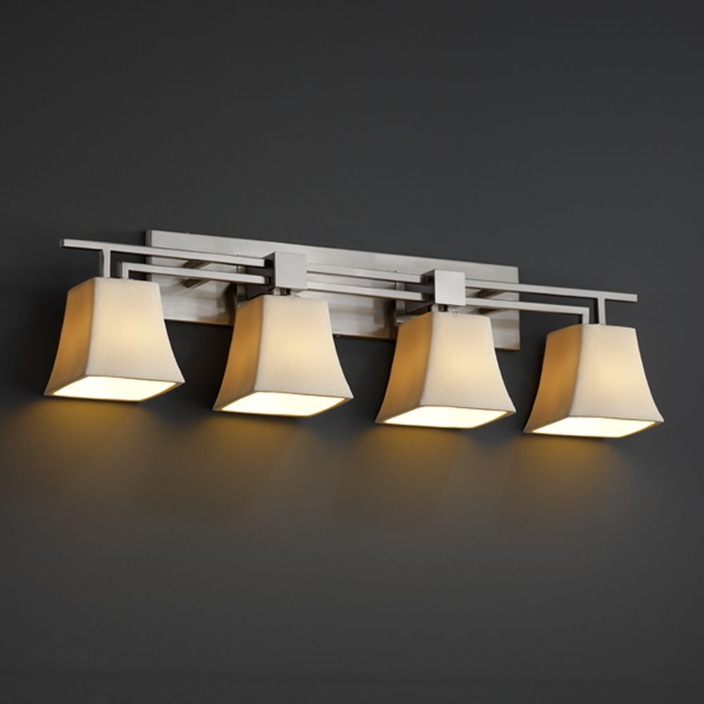 justice design group bathroom lighting justice design candlearia collection bathroom light 23570