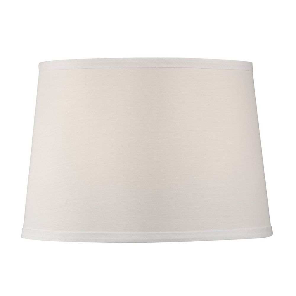 dolan designs lighting white drum lamp shade with spider assembly. Black Bedroom Furniture Sets. Home Design Ideas