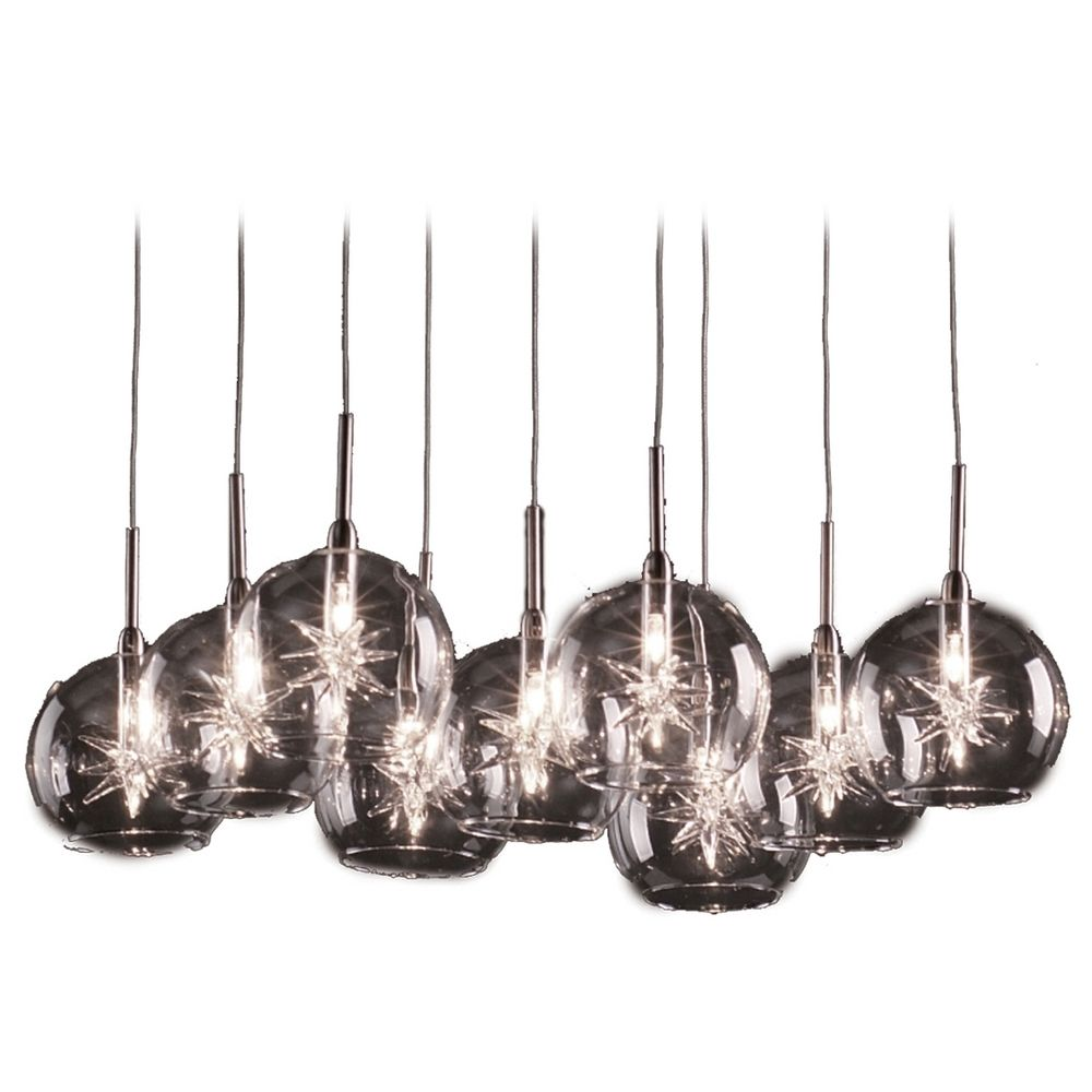 Modern Low Voltage Multi Light Pendant Light With Clear