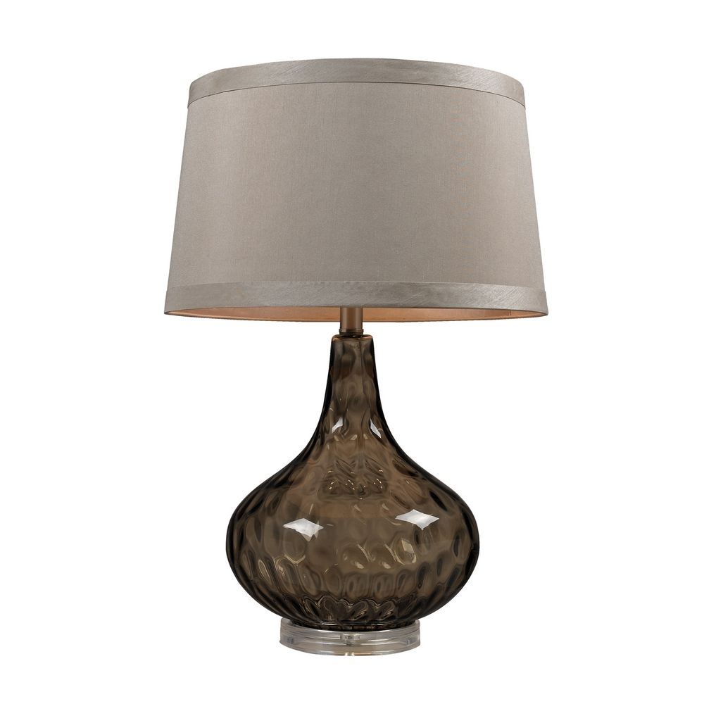 Table Lamp In Coffee Smoked Finish D148 Destination Lighting