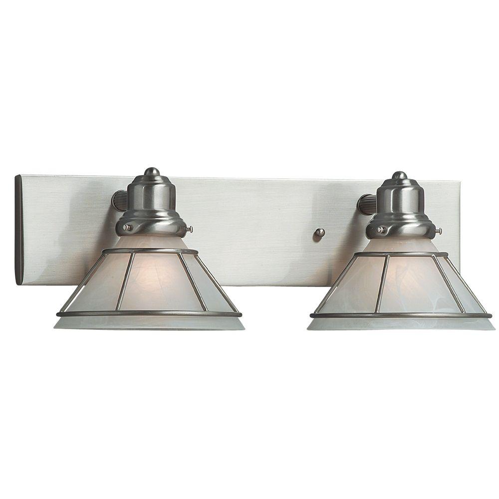 Satin Nickel Two-Light Bathroom Light  632-09  Dolan Designs