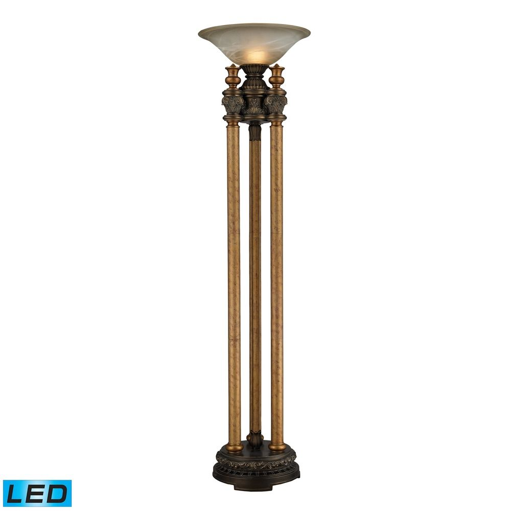 Dimond lighting athena bronze led torchiere lamp 113 for Floor lamp vs torchiere