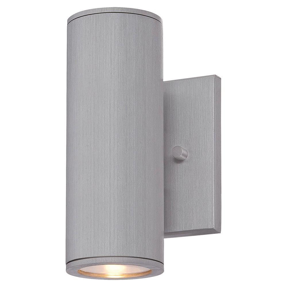 Outdoor Lights Revit: Minka Lighting Skyline Brushed Aluminum LED Outdoor Wall