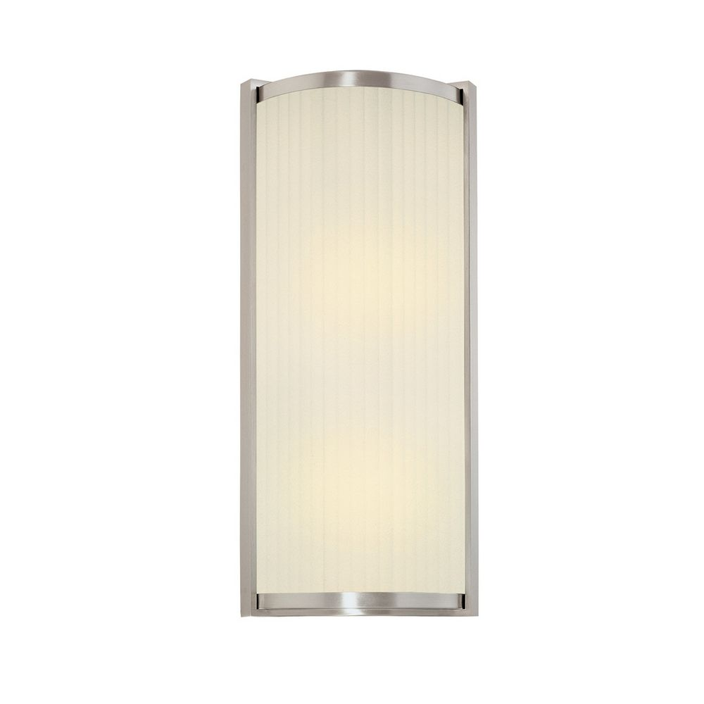 Sconce Wall Light with White Glass in Satin Nickel Finish 4351.13 Destination Lighting