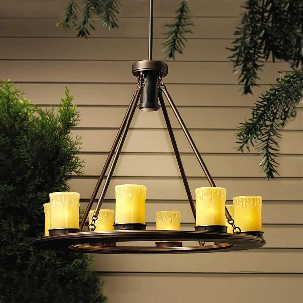 Kichler Low Voltage Outdoor Chandelier 15402OZ – Low Voltage Chandelier