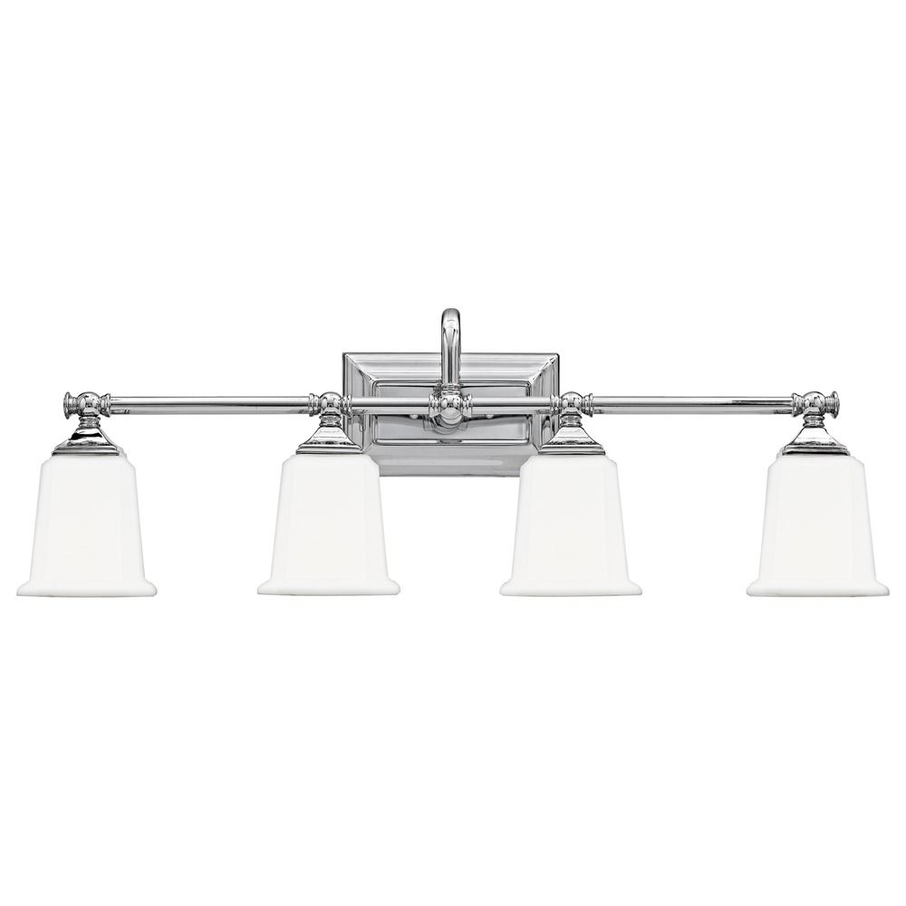 Four-Light Chrome Vanity Light NL8604C Destination Lighting