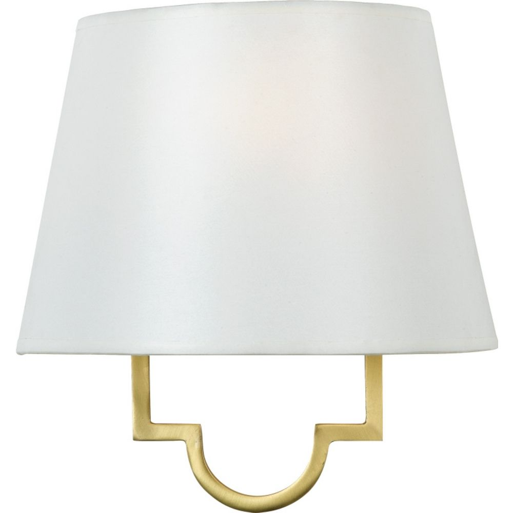 Modern Gold Wall Lights : Modern Sconce Wall Light with White Shade in Gallery Gold Finish LSM8801GY Destination Lighting