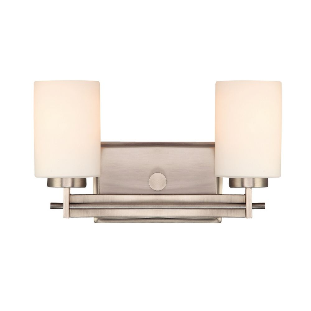 Old Vanity Light Covers : Two-Light Antique Nickel Vanity Light TY8602AN Destination Lighting