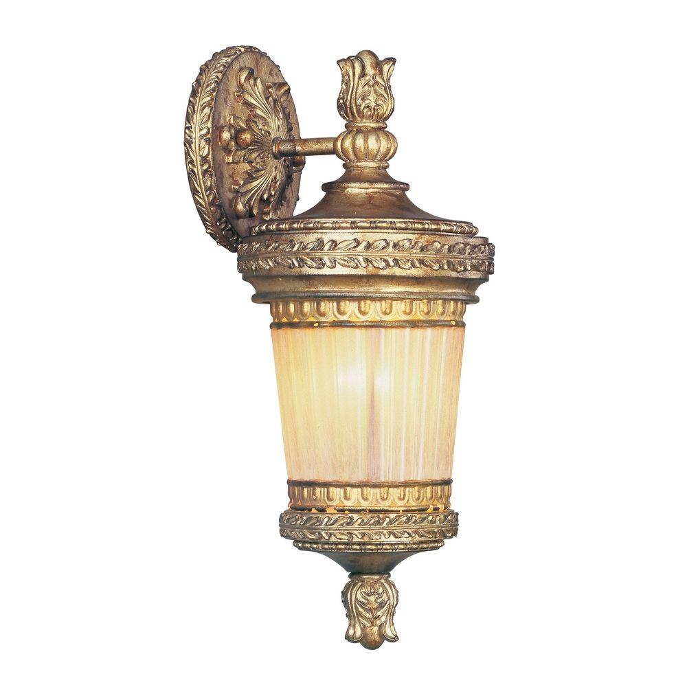 Vintage Gold Wall Lights : Livex Lighting La Bella Vintage Gold Leaf Outdoor Wall Light 8901-65 Destination Lighting