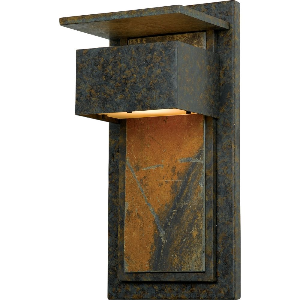 Modern Outdoor Wall Light with White Glass in Muted Bronze ... on Outdoor Wall Sconce Lighting id=62163