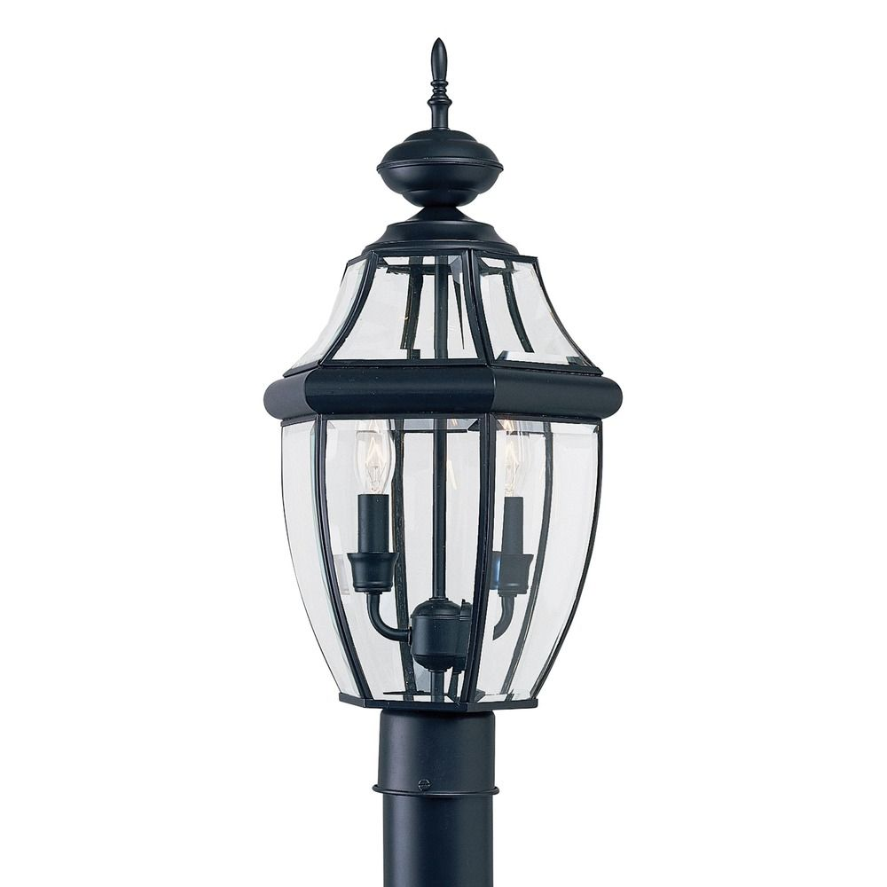 Sea Gull Lights: Sea Gull Lighting Lancaster Black LED Post Light