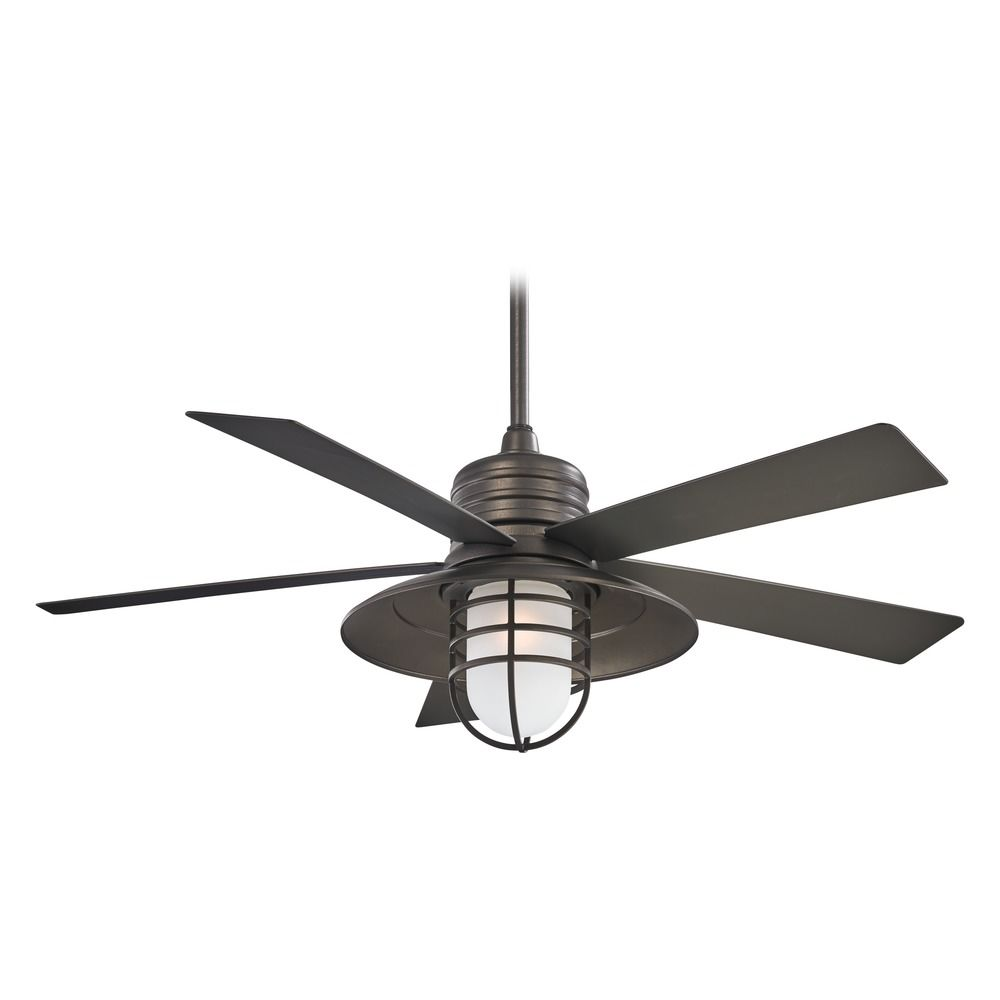 Minka Aire Rainman Smoked Iron Ceiling Fan With Light F582 Hover Or To Zoom