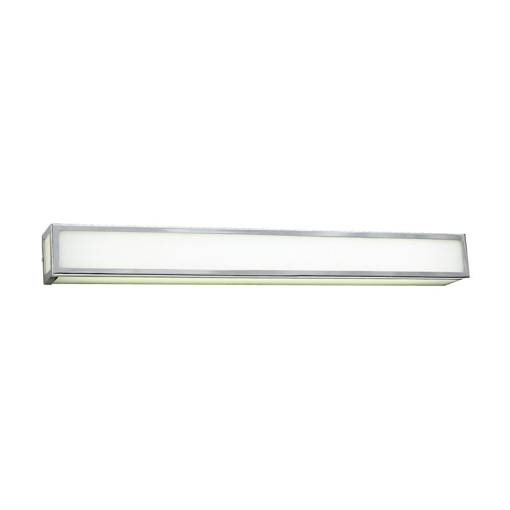 PLC Lighting Modern Vertical Bathroom Light with White Glass in