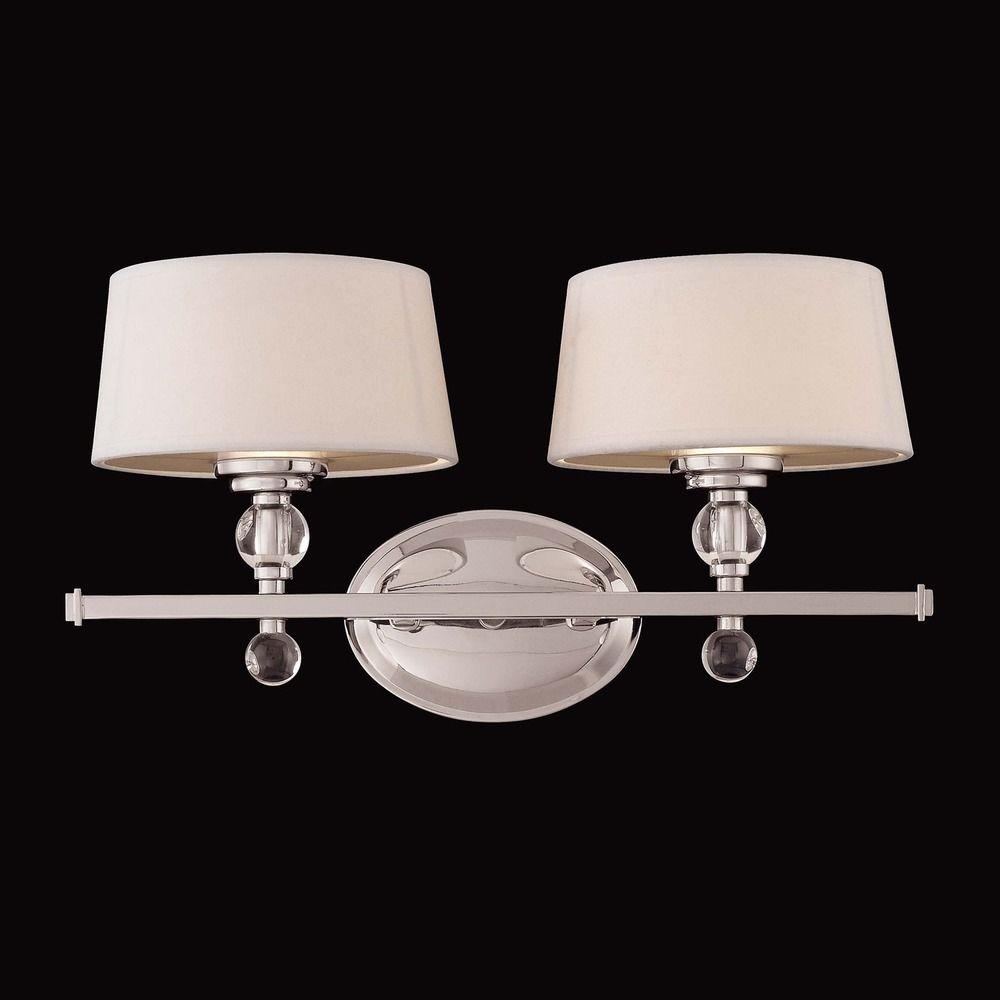Savoy house polished nickel bathroom light 8 1041 2 109 for Polished nickel bathroom lighting