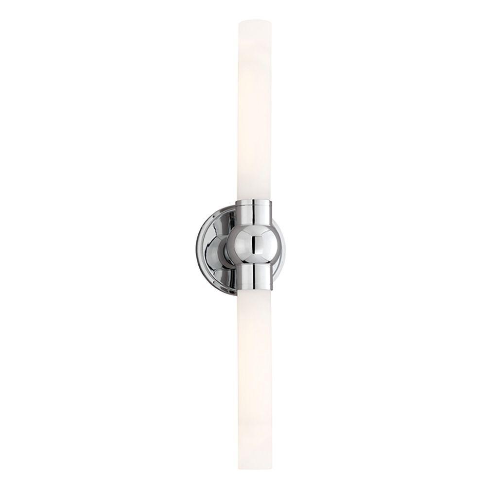 Hudson Valley Lighting Vertical Bathroom Light with White Glass in