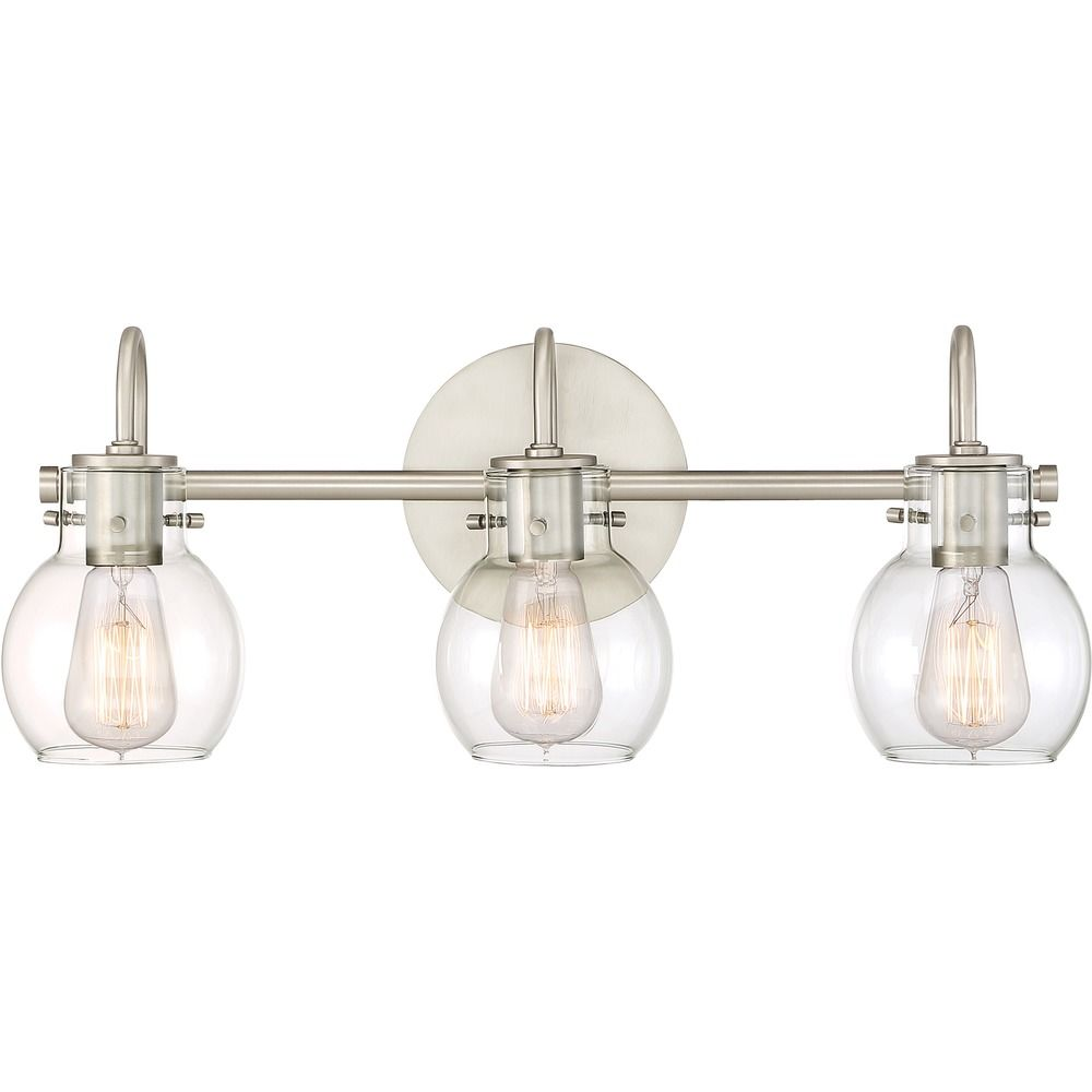 Quoizel Lighting Andrews Antique Nickel Bathroom Light Anw8603an Destination Lighting