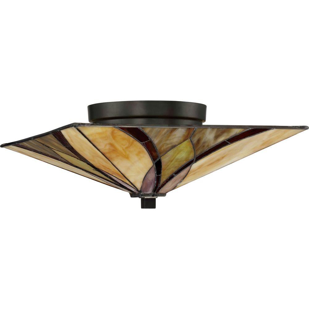 Tiffany Semi Flush Ceiling Light Off