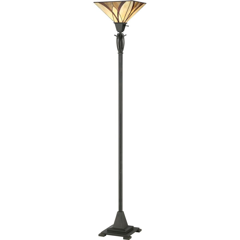 Bronze Torchiere Floor Lamp With