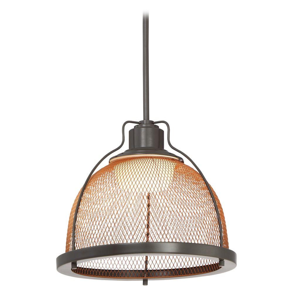 Nuvo Lighting Tex LED Dark Bronze LED Pendant Light With