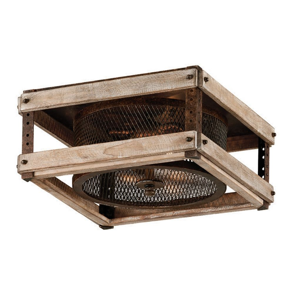 kitchen light fixture ideas low ceiling - Troy Lighting Merchant Street Rusty Iron with Salvaged