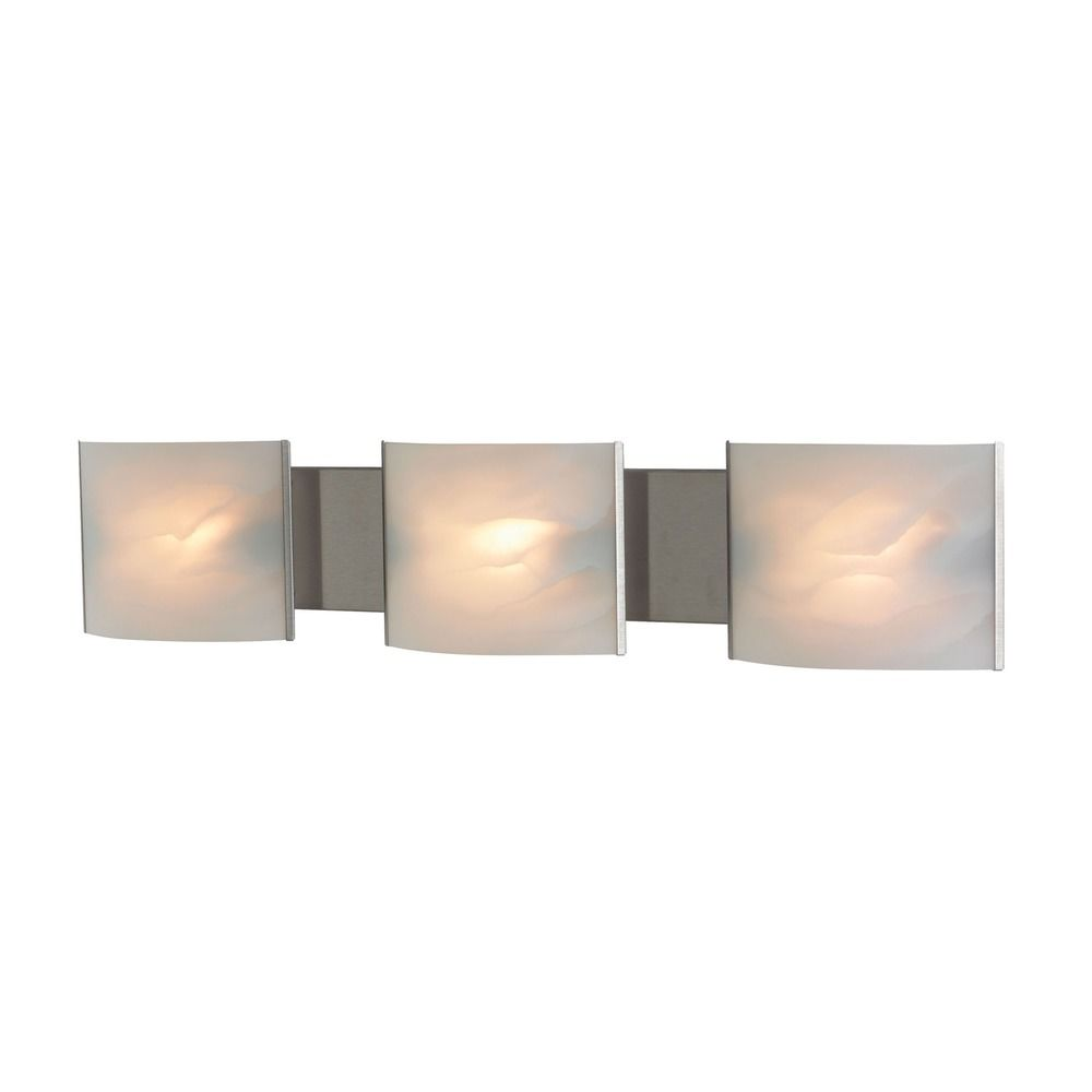 Alico lighting pannelli stainless steel bathroom light bv713 6 16 destination lighting for Stainless steel bathroom lights