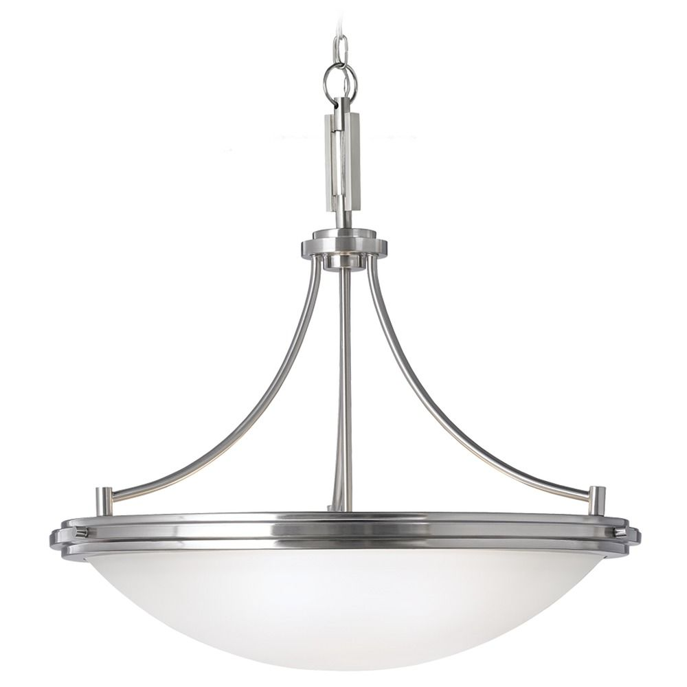 Sea Gull Lighting Winnetka Brushed Nickel Pendant Light 65662 962 Destina