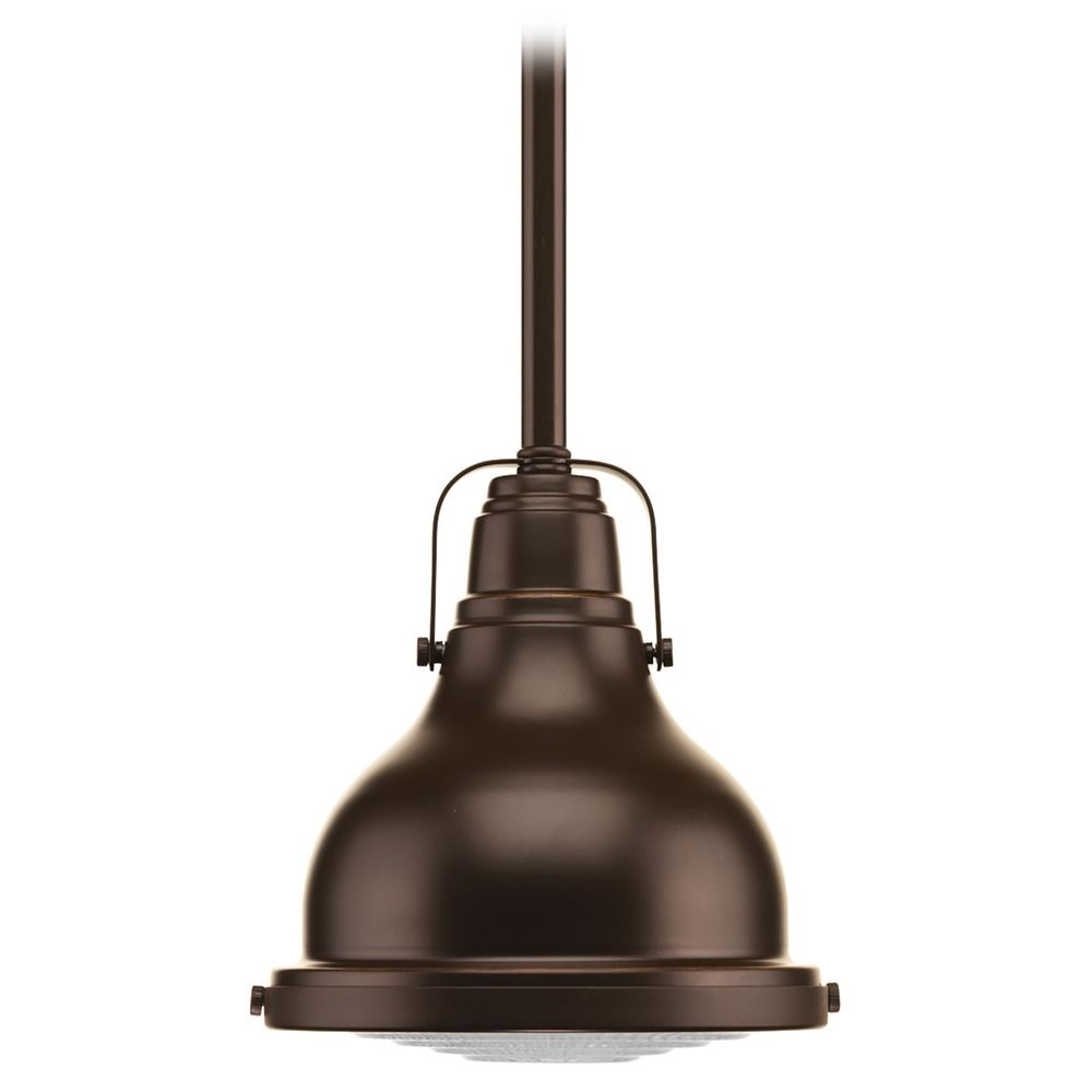 oil rubbed bronze pendant lights. Progress Lighting Farmhouse Mini-Pendant Light Oil Rubbed Bronze Fresnel Lens By P5050. Hover Or Click To Zoom Pendant Lights B