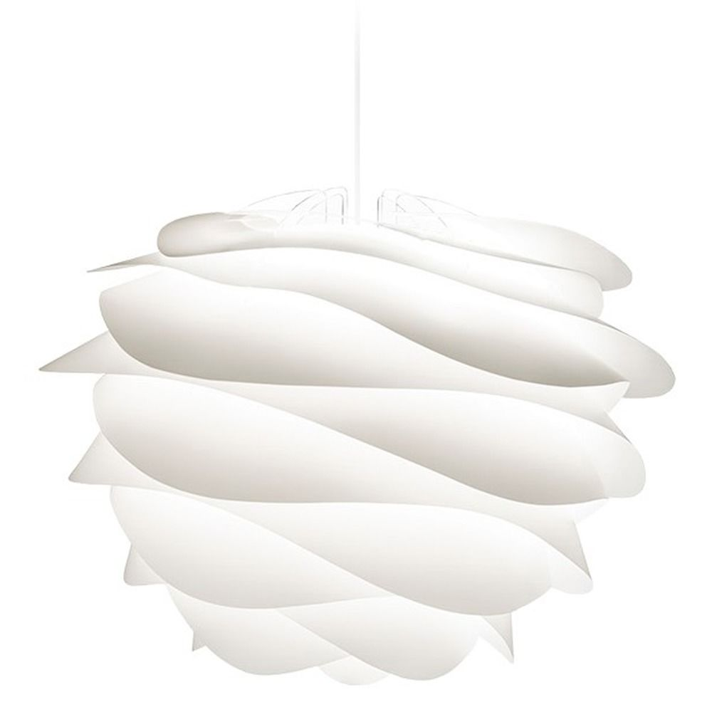 Umage White Plug In Swag Pendant Light With Abstract Shade 2056 4009 Destination Lighting