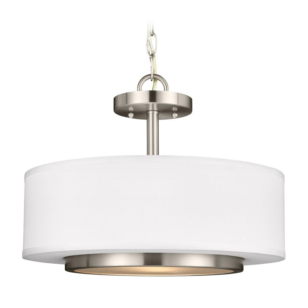 sea gull lighting nance brushed nickel led pendant light. Black Bedroom Furniture Sets. Home Design Ideas