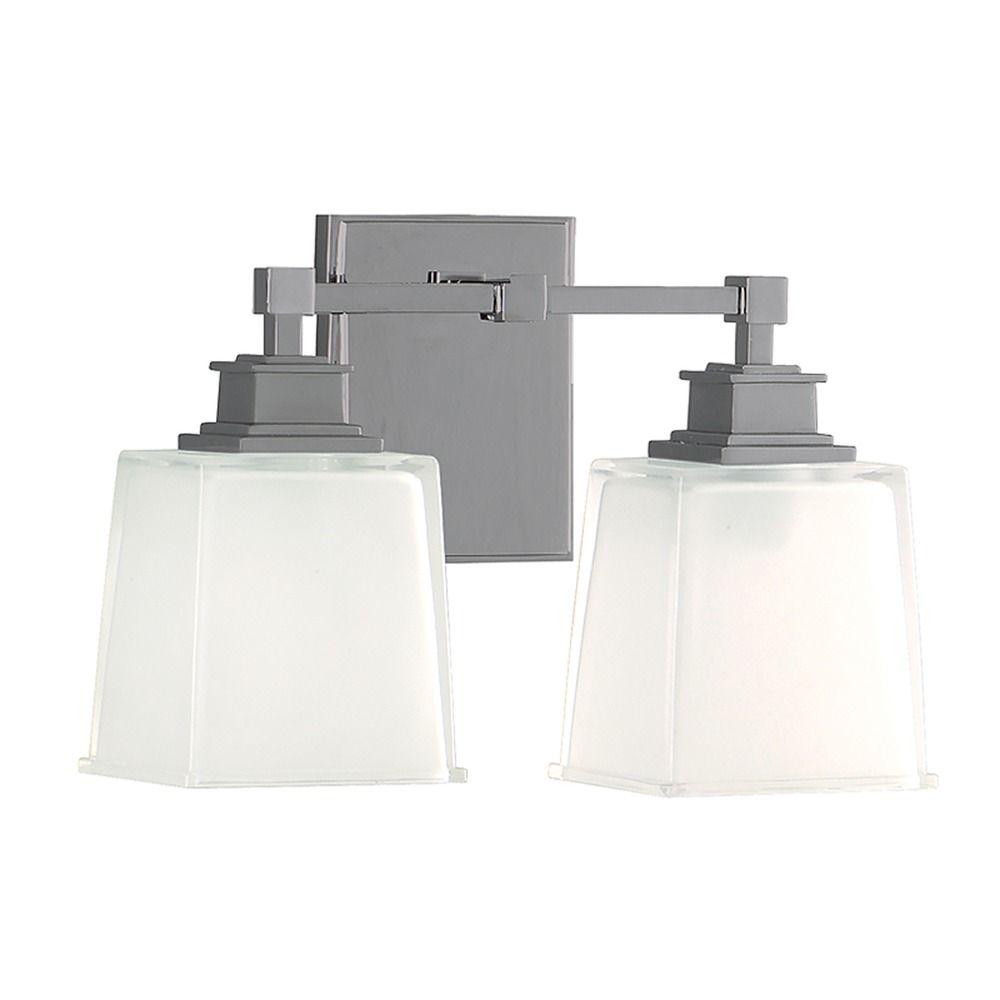 Bathroom Light With White Glass In Satin Nickel Finish 1952 Sn Destination Lighting