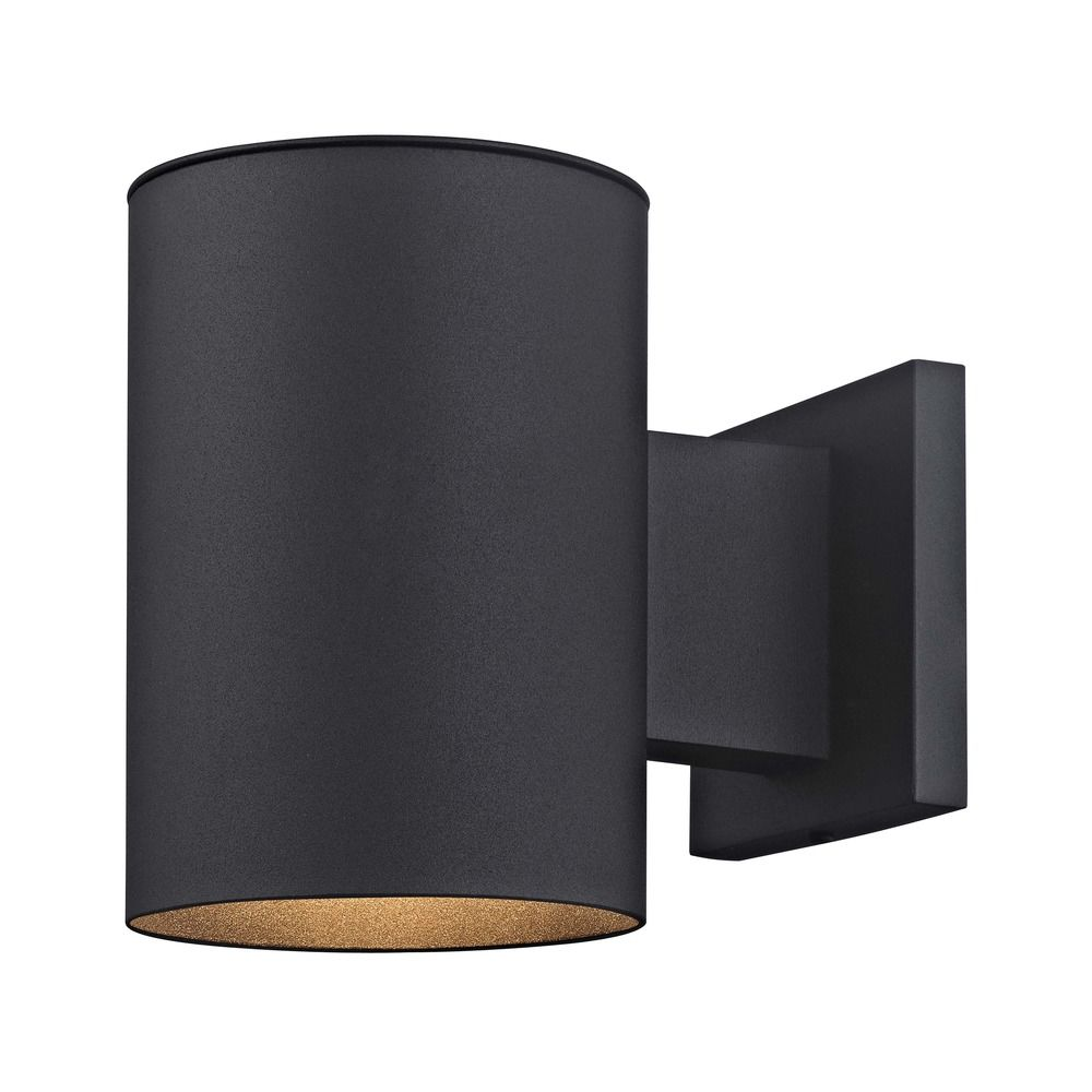 Cylinder outdoor wall down light in powder coated black finish product image mozeypictures Images