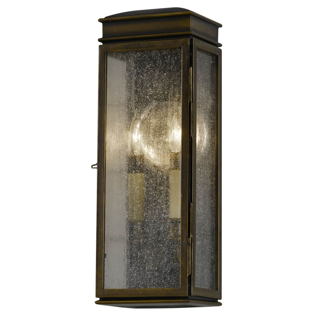Outdoor Wall Light With Clear Glass In Astral Bronze