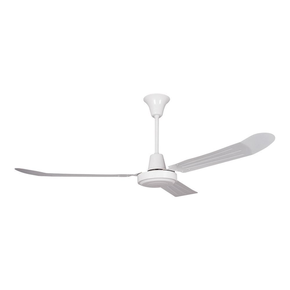 Modern ceiling fan without light in white finish for White contemporary ceiling fans with lights